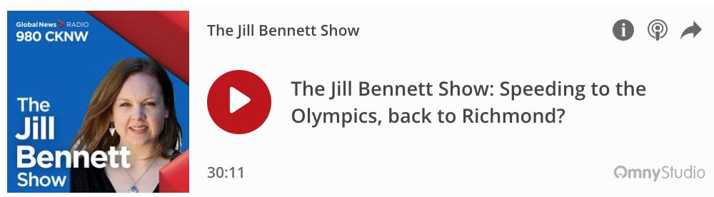 Grant Gottgetreu on The Jill Bennett Show Regarding The Rollback of The Controversial Intersection Speeding Program