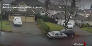 Grant on Global News: Video captures hit-and-run driver slam head-on into parked car in Burnaby