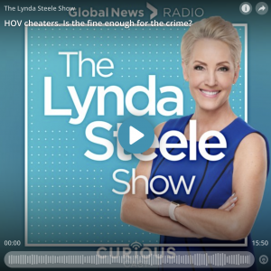 Grant on the Lynda Steele Show: HOV cheaters. Is the fine enough for the crime?